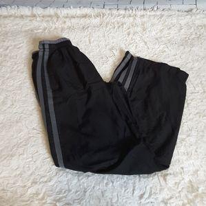 3/$15 Starter black grey lined athletic track pant